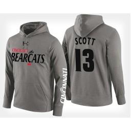 Cincinnati Bearcats #13 Tre Scott Gray Hoodie College Basketball