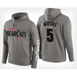 Cincinnati Bearcats #5 Trevor Moore Gray Hoodie College Basketball