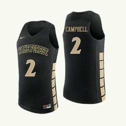 Wake Forest Demon Deacons #2 Amber Campbell Authentic College Basketball Jersey Black