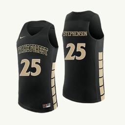 Wake Forest Demon Deacons #25 Ariel Stephenson Authentic College Basketball Jersey Black