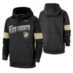 Army Black Knights Black Sideline Wordmark & Logo Performance Hoodie