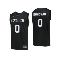Youth Butler Bulldogs #0 Campbell Donovan Authentic College Basketball Jersey Black