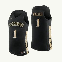 Wake Forest Demon Deacons #1 Destini Walker Authentic College Basketball Jersey Black