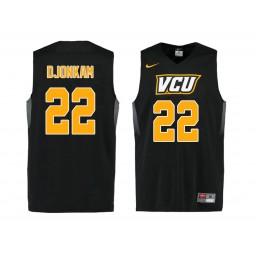 Women's VCU Rams #22 Lewis Djonkam Authentic College Basketball Jersey Black