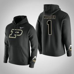 Purdue Boilermakers #1 Aaron Wheeler Men's Black Pullover Hoodie