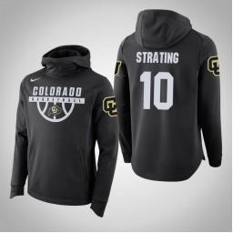 Colorado Buffaloes #10 Alexander Strating Men's Black College Basketball Hoodie