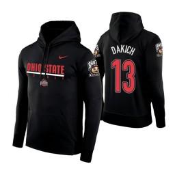 Ohio State Buckeyes #13 Andrew Dakich Men's Black College Basketball Hoodie