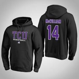 TCU Horned Frogs #14 Angus McWilliam Men's Black College Basketball Hoodie