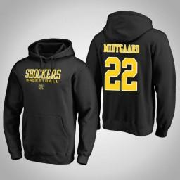 Wichita State Shockers #22 Asbjorn Midtgaard Men's Black College Basketball Hoodie