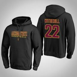 Arizona State Sun Devils #22 Austin Witherill Men's Black College Basketball Hoodie