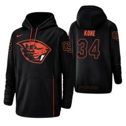 Oregon State Beavers #34 Ben Kone Men's Black College Basketball Hoodie