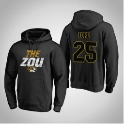 Missouri Tigers #25 Brooks Ford Men's Black Team Hometown Collection Pullover Hoodie