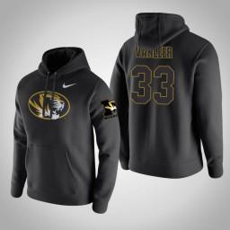 Missouri Tigers #33 Cullen VanLeer Men's Black Pullover Hoodie