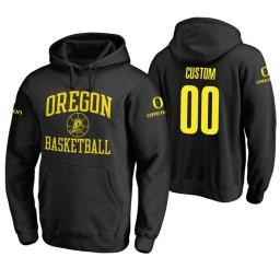Oregon Ducks #00 Custom Men's Black College Basketball Hoodie