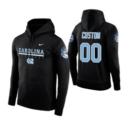 North Carolina Tar Heels #00 Custom Men's Black Hoodie