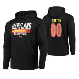 Maryland Terrapins #00 Custom Men's Black College Basketball Hoodie