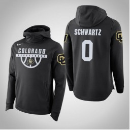 Colorado Buffaloes #0 D'Shawn Schwartz Men's Black College Basketball Hoodie
