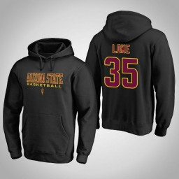 Arizona State Sun Devils #35 De'Quon Lake Men's Black College Basketball Hoodie