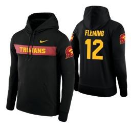 USC Trojans #12 Devin Fleming Men's Black Pullover Hoodie