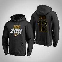 Missouri Tigers #12 Dru Smith Men's Black Team Hometown Collection Pullover Hoodie