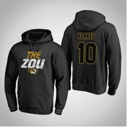 Missouri Tigers #10 Evan Yerkes Men's Black Team Hometown Collection Pullover Hoodie