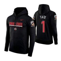 Ohio State Buckeyes #1 Jae'Sean Tate Men's Black College Basketball Hoodie