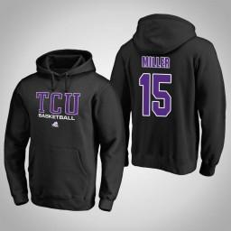 TCU Horned Frogs #15 JD Miller Men's Black College Basketball Hoodie