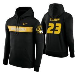 Missouri Tigers #23 Jeremiah Tilmon Men's Black Pullover Hoodie