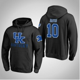 Kentucky Wildcats #10 Jonny David Men's Black Pullover Hoodie