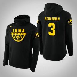 Iowa Hawkeyes #3 Jordan Bohannon Men's Black College Basketball Hoodie