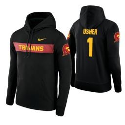 USC Trojans #1 Jordan Usher Men's Black Pullover Hoodie