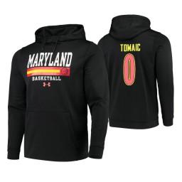 Maryland Terrapins #0 Joshua Tomaic Men's Black College Basketball Hoodie