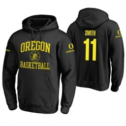 Oregon Ducks #11 Keith Smith Men's Black College Basketball Hoodie