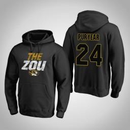 Missouri Tigers #24 Kevin Puryear Men's Black Team Hometown Collection Pullover Hoodie