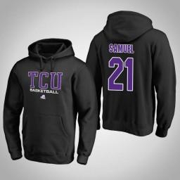 TCU Horned Frogs #21 Kevin Samuel Men's Black College Basketball Hoodie