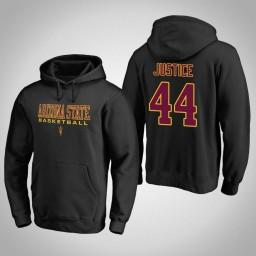 Arizona State Sun Devils #44 Kodi Justice Men's Black College Basketball Hoodie