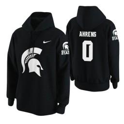 Michigan State Spartans #0 Kyle Ahrens Men's Black College Basketball Hoodie