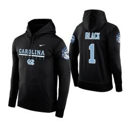 North Carolina Tar Heels #1 Leaky Black Men's Black Hoodie