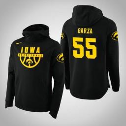 Iowa Hawkeyes #55 Luka Garza Men's Black College Basketball Hoodie