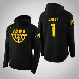 Iowa Hawkeyes #1 Maishe Dailey Men's Black College Basketball Hoodie