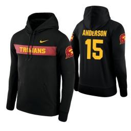 USC Trojans #15 McKay Anderson Men's Black Pullover Hoodie