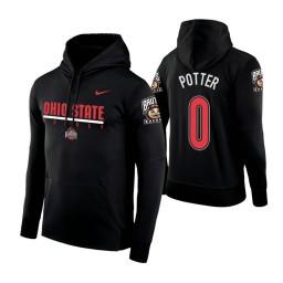 Ohio State Buckeyes #0 Micah Potter Men's Black College Basketball Hoodie