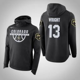 Colorado Buffaloes #13 Namon Wright Men's Black College Basketball Hoodie