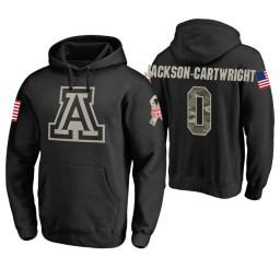 Arizona Wildcats #0 Parker Jackson-Cartwright Men's Black College Basketball Hoodie