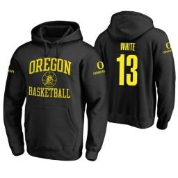 Oregon Ducks #13 Paul White Men's Black College Basketball Hoodie