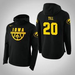 Iowa Hawkeyes #20 Riley Till Men's Black College Basketball Hoodie