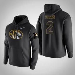 Missouri Tigers #2 Ronnie Suggs Men's Black Pullover Hoodie