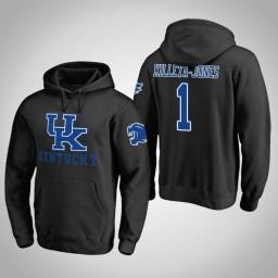 Kentucky Wildcats #1 Sacha Killeya-Jones Men's Black Pullover Hoodie