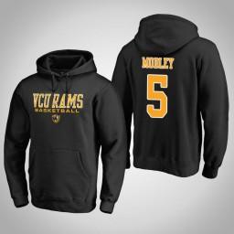 VCU Rams #5 Sean Mobley Men's Black College Basketball Hoodie