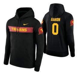 USC Trojans #0 Shaqquan Aaron Men's Black Pullover Hoodie